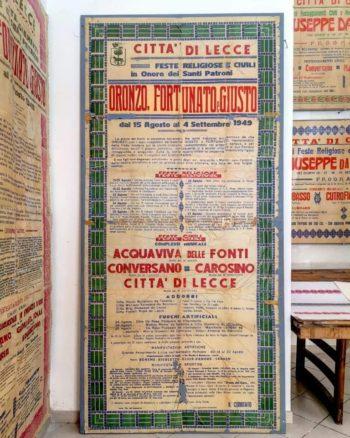Mostra dei manifesti antichi presso la Tipografia del Commercio