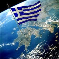 Bandiera Greca Issata sul Peloponneso