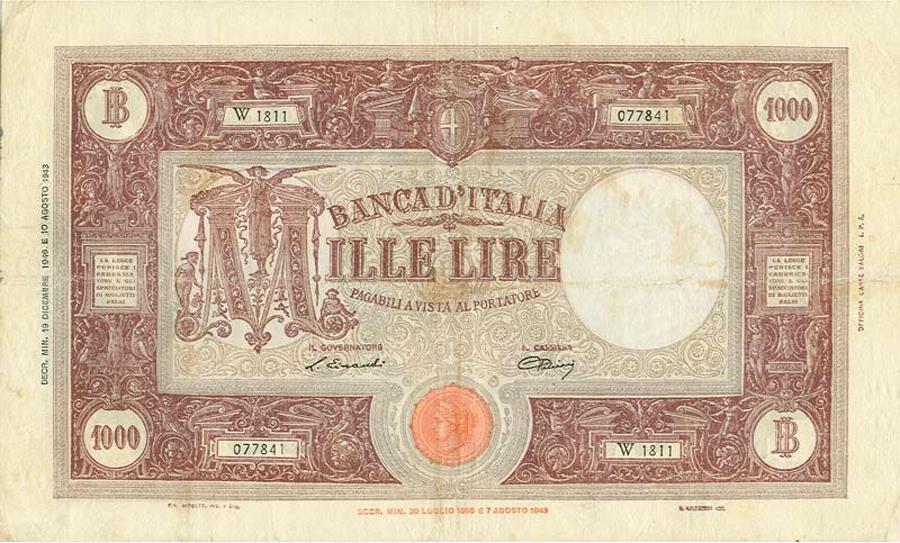 Vorrei avere mille (euro) lire al mese
