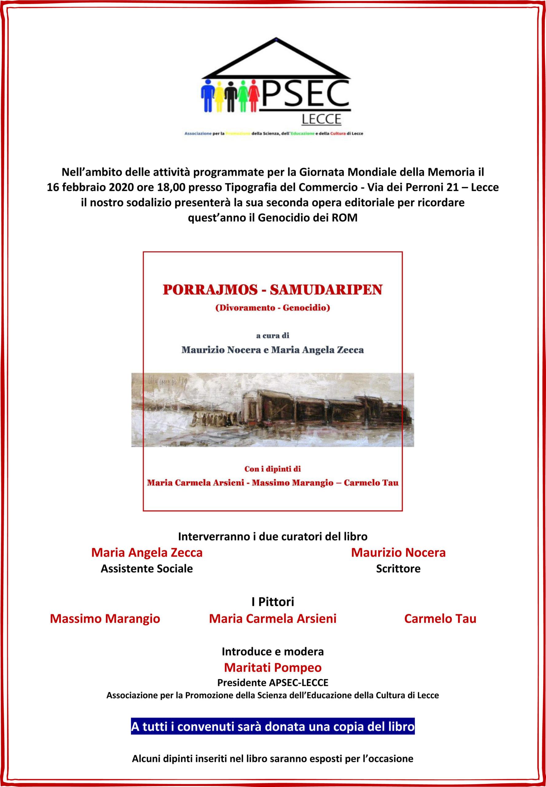 Manifesto presentazione libro sul genocidio dei Rom