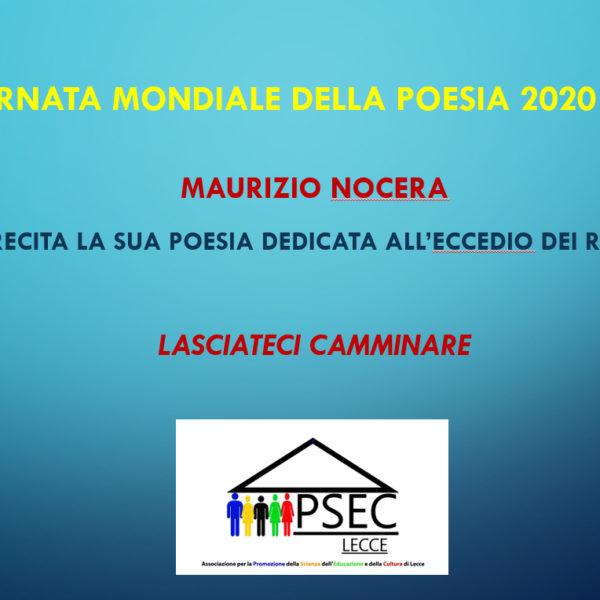 La Giornata Mondiale della Poesia 2020 con un componimento di Maurizio Nocera