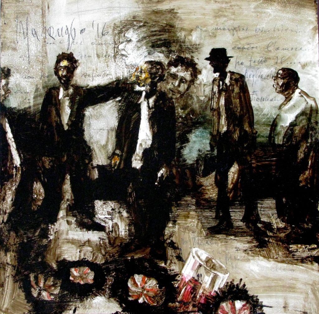 Dipinto di Massimo Marangio dedicato a Domenico Modugno