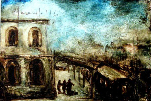 Di Domenico Modugno della sua poesia e del suo canto. Di Maurizio Nocera con i dipinti di Massimo Marangio