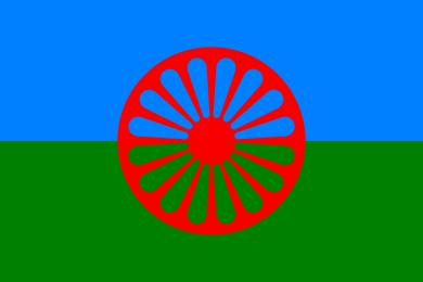 La bandiera internazionale del Popolo Rom