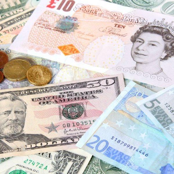 Carta monete di varie nazionalità
