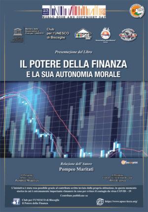 23 aprile 2020 - Giornata Mondiale del Libro Presentazione del Libro di Maritati Pompeo Il Potere della Finanza
