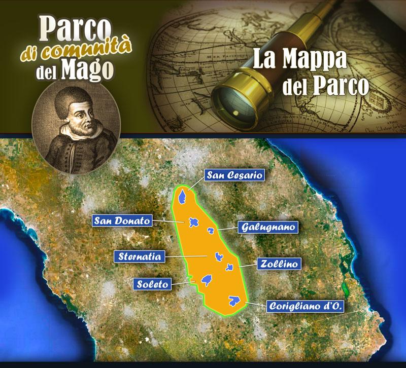 Mappa del Parco del Mago