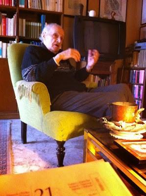 Arrigo Colombo nella sua casa di Lecce