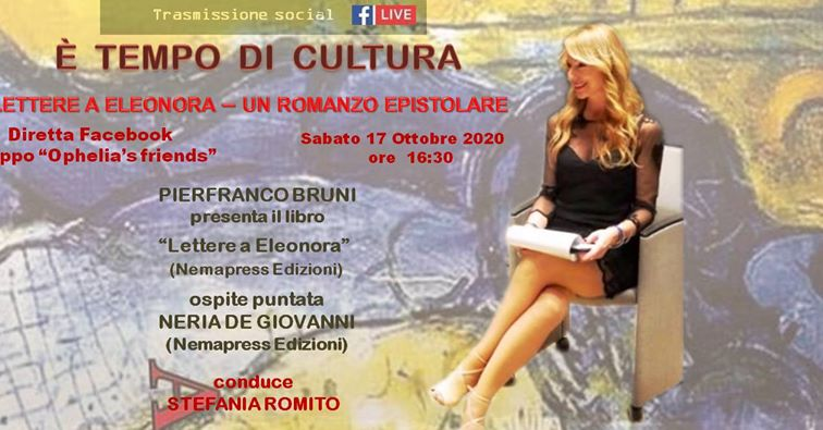 Pierfranco Bruni Lettere a Eleonora Evento on line